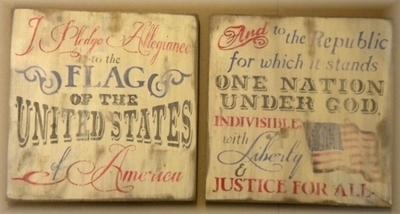 I Pledge Allegiance to the Flag of the United States... Stencil Set