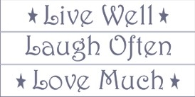 live well laugh often love much large 3 24 x 6 stencil set. Black Bedroom Furniture Sets. Home Design Ideas