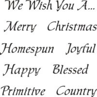 fancy christmas words 12 x 12 stencil