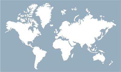 "World Map 20 x 12"" Stencil Two Size Choices | 400 x 240 jpeg 39kB"