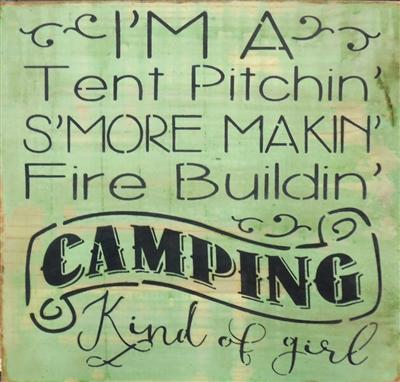 Iu0027m A Tent Pitchinu0027 Su0027more Makinu0027 Fire Buildinu0027 C&ing Kind of girl 11.5 x 11.5  Stencil  sc 1 st  Scrappinu0027 Along & m A Tent Pitchinu0027 Su0027more Makinu0027 Fire Buildinu0027 Camping Kind of girl ...