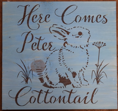 Here Comes Peter Cottontail 11 5 X 11 5 Quot Stencil With