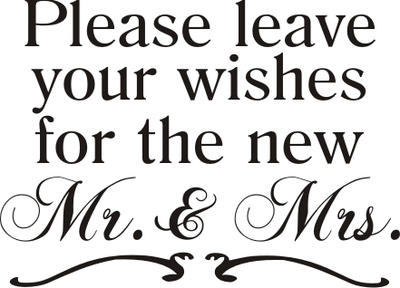 Please Leave Your Wishes For The New Mr Amp Mrs Design