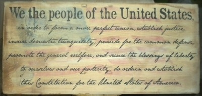 "Personalized Street Signs >> US Constitution ""We the people"" 24 x 12"" stencil"