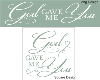 printable stencil letters god gave me you stencil stencils diy 1546