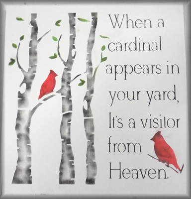 Personalized Street Signs >> When a cardinal appears in your yard, It's a visitor from ...